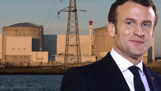 Macron machte klar, dass ein Ausstieg aus der Kernenergie für ihn nicht infrage kommt.